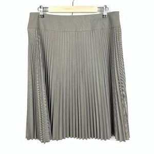 Calvin Klein Accordion Pleated Knee Length Skirt